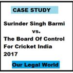 Surinder Singh Barmi vs The Board Of Control For Cricket India 2017