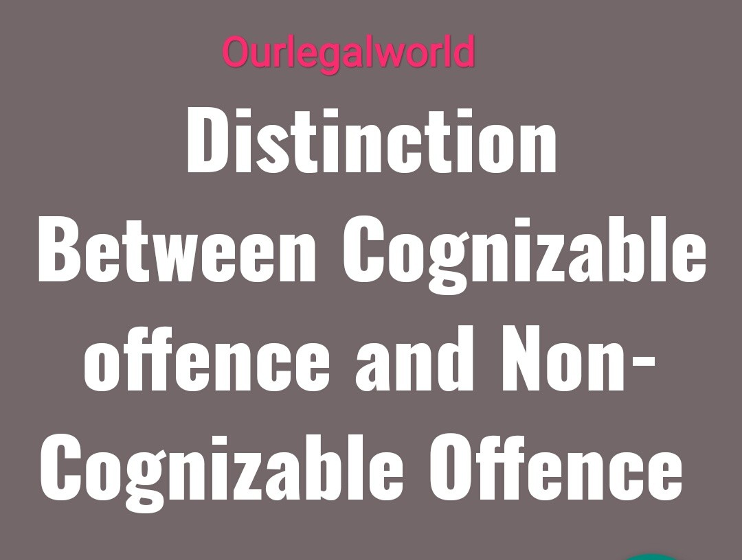 difference between cognizable and non-cognizable offence
