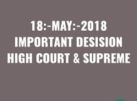 18:-MAY:-2018 IMPORTANT JUDGMENTS HIGH COURT & SUPREME