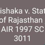 Case Study: Vishaka v. State of Rajasthan , AIR 1997 SC 3011
