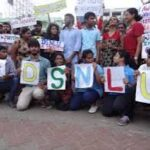 DSNLU students protests still continue
