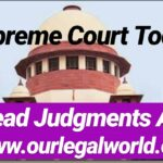 Important Supreme Court Judgments  [November 22, 2018]