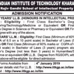 LL.B (Hons.) in IPR & LL.M @ Rajiv Gandhi School of IP Law, IIT Kharagpur: Apply by March 15