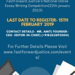 Fastforward Justice's National Online Essay Competition: Register by Feb 15
