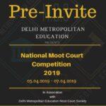 Pre-Invite: 3rd National DME Moot Court @ Delhi Metropolitan Education Delhi [April 5-7]