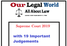 Important Supreme Court Judgment 2019