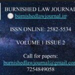 Call for paper: Burnished Law Journal Vol-I: submit by June 10