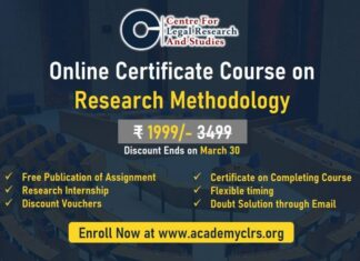 CLRS: Certificate Course on Research Methodology Please Mention Our Legal World: Registrations Now