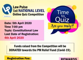 Law Pulse 1st National Level Online Quiz Competition, 2020