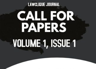Call for Papers: LawClique Journal [ Vol I, Issue I ]: Submit by May 1st, 2020