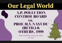A.P. Pollution Control Board vs. Prof. M.V. Nayudu (Retd.) and Others (1999)