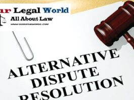 Alternative Dispute Resolution under section 89 CPC, 1908- Our Legal World