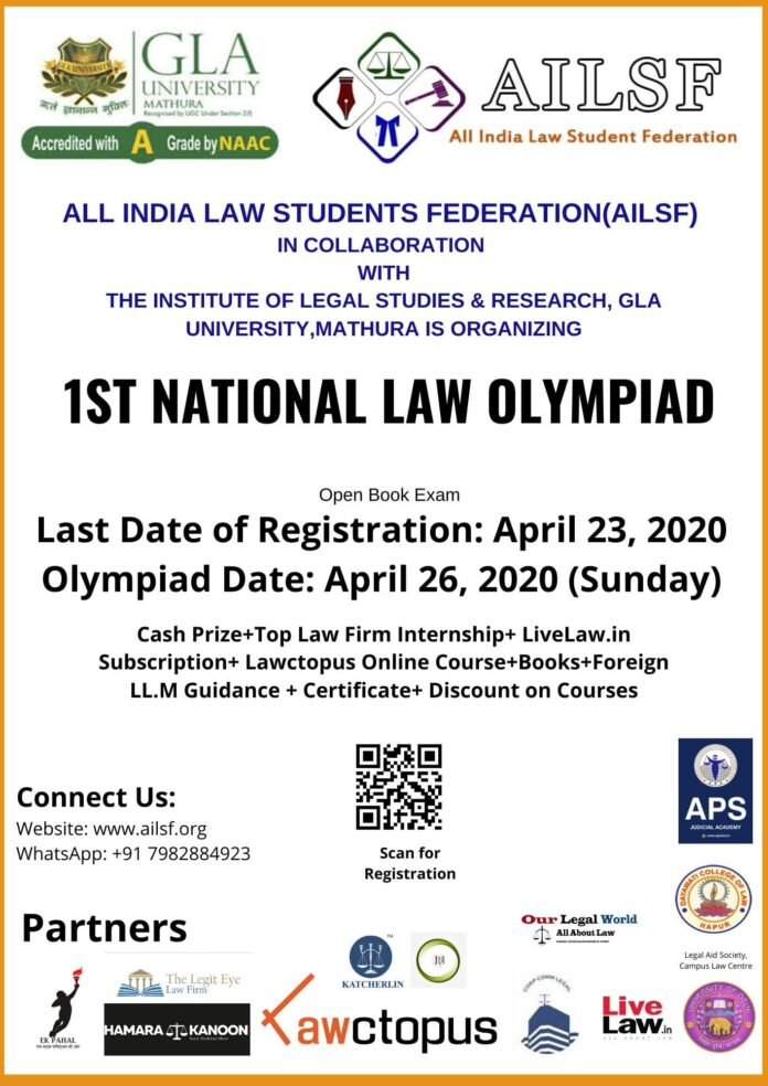 1st National Law Olympiad by All India Law Students Federation: Register Now