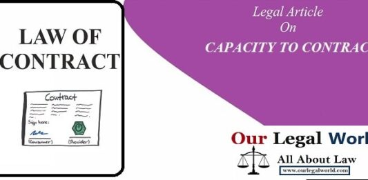 Capacity to Contract under Indian Contract Act, 1872 law notes, judiciary, section 11