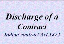 Discharge of Contract under Indian Contract Act, 1872
