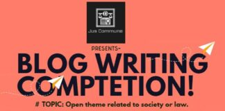 Blog writing Competition by Jus Commune: Submit by May 20