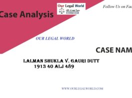 Lalman Shukla v. Gauri Dutt:- Case Analysis- section 8 indian contract act Our Legal World
