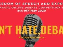 Don't Hate, Debate: Freedom of Speech & Expression Multilingual Debate Competition by DU Students [May 8-9]: No Registration Fee, Register by May 3