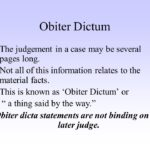 LEGAL MAXIM: OBITER DICTA:- Our Legal World