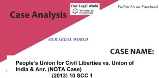 PUCL v. Union of India & anr. (NOTA CASE ) 2013- Our Legal World