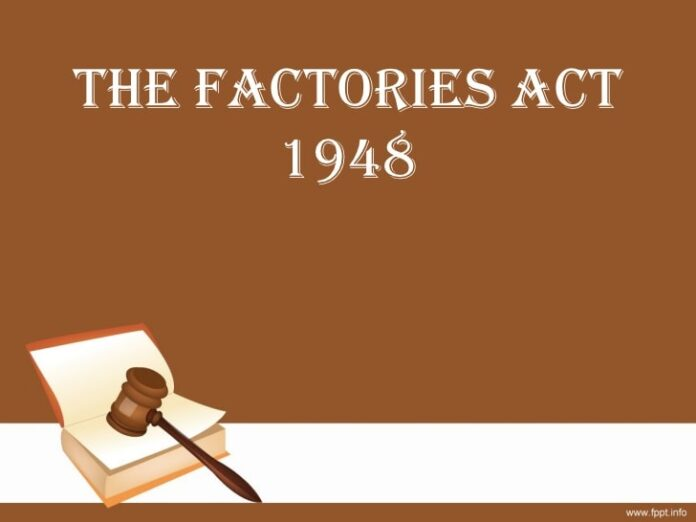 penalties under the Factories Act 1948 section 95, section 105