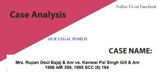 Rupan Deol Bajaj and Anr vs. Kanwar Pal Singh Gill and Anr section 482 354