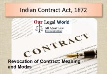 Revocation of Contract: Meaning and Modes, Lapse of time