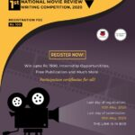 1st NATIONAL MOVIE REVIEW WRITING COMPETITION, 2020- Our Legal World