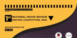 1st NATIONAL MOVIE REVIEW WRITING COMPETITION, 2020                     Law Laboratory & Our Legal World