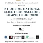 NATIONAL CLIENT COUNSELLING COMPETITION, 2020( Online)
