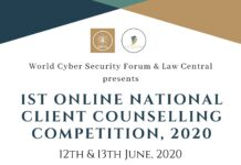 NATIONAL CLIENT COUNSELLING COMPETITION, 2020( Online) World Cyber Security Forum
