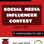 Social Media Influencer Contest for Law Students, 2020