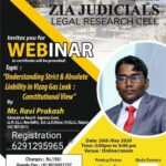 Webinar on Understanding Strict & Absolute Liability in Vizag Gas Leak:  by Zia Judicials Legal Research Cell