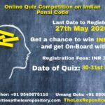 Lex Repository: ONLINE QUIZ COMPETITION ON INDIAN PENAL CODE