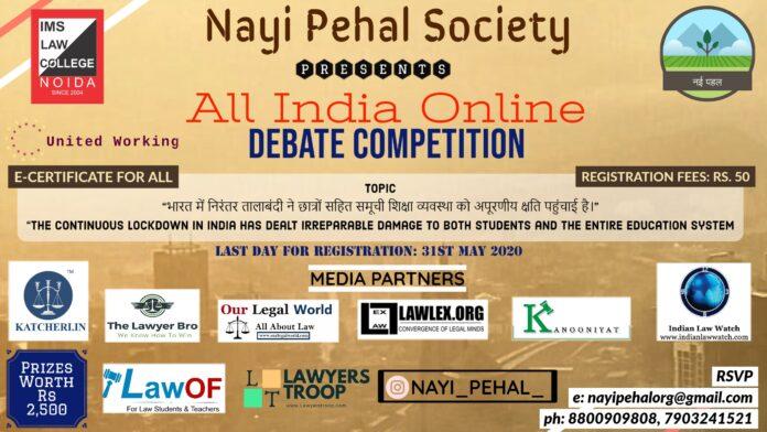Nayi Pehel IMS Noida, Online Debate Competition: Register Now