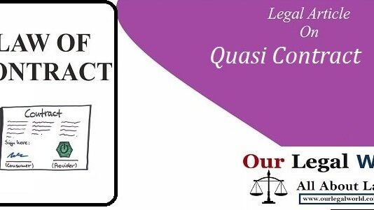 Quasi Contract under Section 68 to 72 of the Contract Act