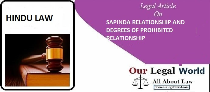 SAPINDA RELATIONSHIP AND DEGREES OF PROHIBITED RELATIONSHIP hindu law, judiciary notes