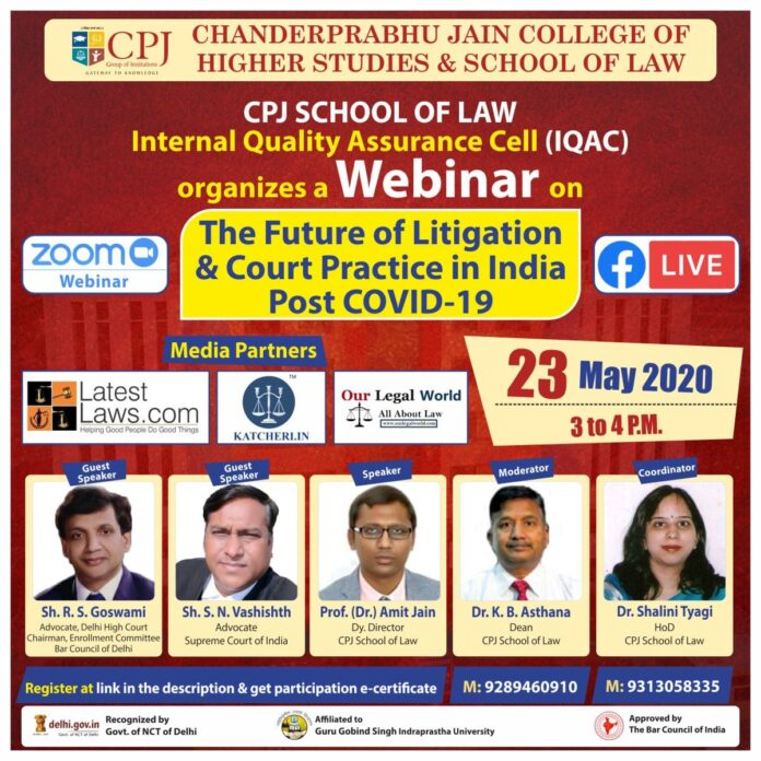 Webinar on The Future of Litigation & Court Practice in India Post COVID-19