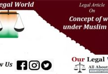 Insight to the concept of waqf under Muslim Law DOCTRINE OF CYPRESS