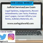 Judiciary Notes- Printed Notes, Handwritten for Judicial Services and UPSC