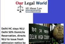 Delhi HC Stay NLU Delhi 50% Horizontal Reservation