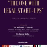 """Webinar by Law Central & JLSR on """"The One With Legal Start-ups"""""""