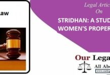 STRIDHAN A STUDY ON WOMEN'S PROPERTY UNDER HINDU LAW