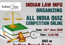 All India Quiz Competition on Indian Penal Code 1860 -Register Now