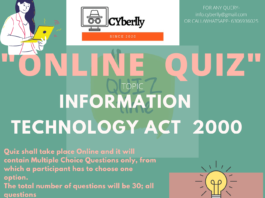 Cyberlly National Quiz on IT Law: [No Fee]:- Registration Open