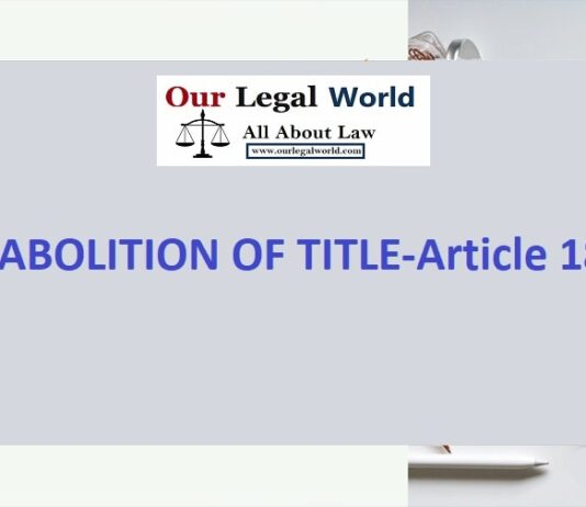 ABOLITION OF TITLE- Article 18 Law Article, Judiciary Notes