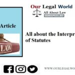 All about the Interpretation of Statutes