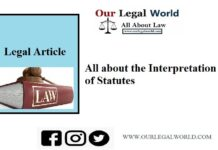 All about the Interpretation of Statutes- Legal Article