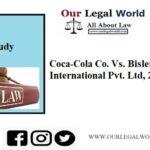 Coca-Cola Co. Vs. Bisleri International Pvt. Ltd., (2009)