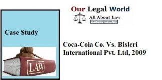 Coca-Cola Co. Vs. Bisleri International Pvt. Ltd., (2009)- Case Study